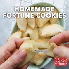 Homemade Fortune Cookies Recipe