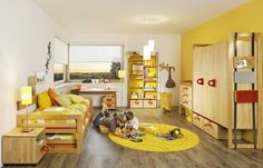 Kinderzimmer Bett Gästebett-Team 7 Safari