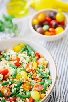 Israeli Couscous Summer Salad: full of flavor and texture, this salad is a dream (vegan).
