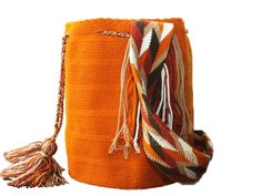 Autumn Brown Wayuu Mochila #mochila #wayuu #unicolor