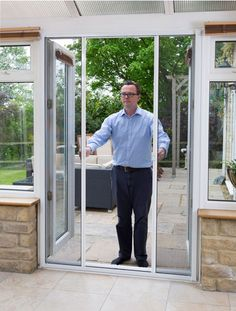 Our double door fly screens are perfect for conservatories. //. & Our DIY fly screens donu0027t need any screws when attaching to the door ...