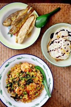 Nasi Goreng Kampung Recipe. The best dishes in life are often the ones we grew up with. And nothing hits the spot like  a plate of nasi goreng, freshly cooked and paired with eggs sunny side up and dark soy sauce and fried fish.