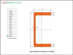 16 2D Steel Sections: UK: Parallel Flange Channels to BS EN 10365:2017  CAD Format: AutoCAD 2013  Block Type: 2D Dynamic (1x16 Lookup Tables)  Units: mm  Description:  A dynamic block made using the BS EN 10365:2017 Tables.  The block is parametric and uses lookup tables to produce 16 different blocks. The block can be edited to user dimensions with the standard AutoCAD Properties editor Autocad, Line Chart, Editor, 2d, Tables, Channel, The Unit, Steel, Type