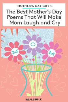 The Best Mother's Day Poems That Will Make Mom Laugh and Cry Short Mothers Day Poems, Mother Poems, Short Poems, Best Gifts For Mom, Laughing And Crying, Best Mother, Fun Ideas, Homeschooling, Messages