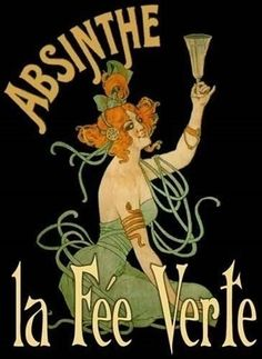 One of the most famous way to enjoy Absinthe. The Green Fairy is made with Absinthe, Sugar. Vintage French Posters, Vintage Advertising Posters, Vintage Advertisements, Vintage Ads, Vintage Clocks, French Vintage, Old Poster, Retro Poster, Poster Ads
