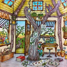 Romantic Country by Eriy #eriy #romanticcountry #adultcoloringbook #coloringbook #coloring #colouringforadults #coloredpencils #adultcoloring #colouring #colouringbook