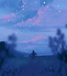 Inspirationally Sane By Art And Music : Photo Sky Aesthetic, Aesthetic Anime, Arte 8 Bits, Wallpaper Animes, 8bit Art, Scenery Wallpaper, Beautiful Gif, Anime Scenery, Cute Gif