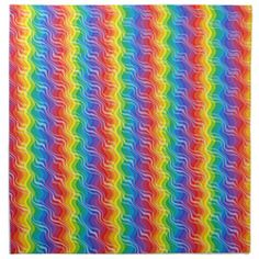 Rainbow Ripples Napkins