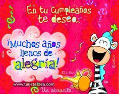 Cebra Ele frotando una lámpara mágica en cumpleaños © ZEA www.tarjetaszea.com
