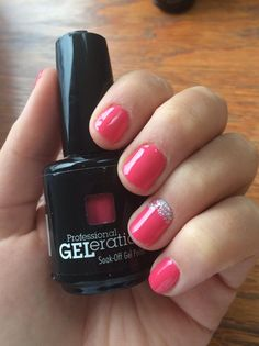 GELeration Soak Up The Sun with sliver glitter accent.