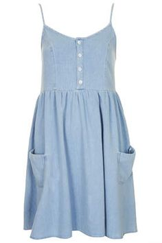 $55! denim babydoll dress: this paired with a bright undershirt or something!