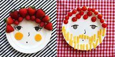 Kreartív konyha: arc tányérok