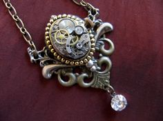 Steampunk Necklace Watch Movement
