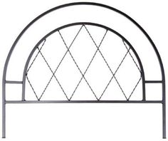 """Rounded Diamond Border Edge, 20""""Hx24""""W, BLACK by Home Decorators Collection. $29.00. 20""""H x 24""""W x 0.5""""D.. Beautify your outer spaces with our Rounded Diamond Border Edge. Garden fencing is an elegant way to separate your yard from the street or sections of your own yard from each other. This edging can be used as a single accent piece or link multiple units together to form an elegant border to your yard or garden. Forged iron construction for resilience and d..."""