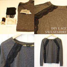 A Pair and a Spare DIY Jason Wu lace sweatshirt