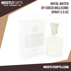 Royal Water By Creed Millesime Spray 2.5 Oz.  It starts off with a blast of citrus notes of mandarin, bergamot and verbena then ends with middle and basenotes of basil, cumin and juniper berry.  Order Now From Mostly Gifts.