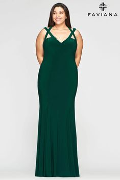Faviana 9485 Long Formal Fitted Dress Evening Gown | The Dress Outlet Plus Size Prom Dresses, Prom Dresses Online, Long Dresses, Faviana Dresses, Trumpet Dress, Long Evening Gowns, Evening Party, Perfect Prom Dress, Floor Length Dresses