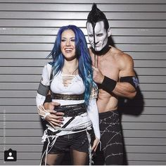 Alissa White-Gluz of Arch Enemy, left, and Doyle Wolfgang von Frankenstein of The Misfits