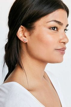 Rough Cut Stone Post Earring - Urban Outfitters