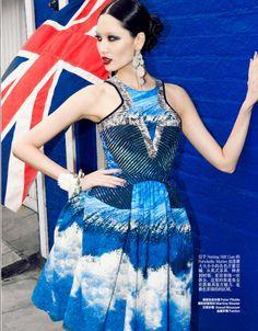 Glamorously British Editorials : Harpers Bazaar China Fabulous London