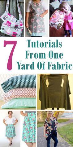 7 Tutorials From One Yard Of Fabric. #OneYardOfFabric #SewingProject #Fabric Horder