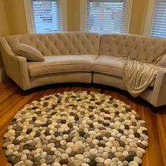 felt carpet supersoft pebbles - felt stone carpet, wool from sheep & lama Carpet Cleaner Vacuum, Carpet Cleaners, Diy Carpet, Modern Carpet, Natural Living, Stone Rug, Plastic Carpet Runner, Brown Carpet, Carpet Trends