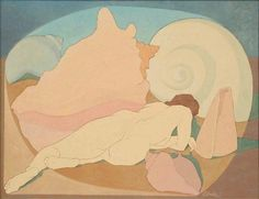 Raphael Ellender (American, 1906-1972) Nude with Sea Shells