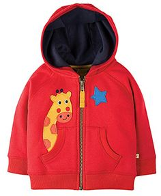 Buy Frugi Organic Baby Hayle Giraffe Hoodie, Red from our Baby & Toddler Sweatshirts, Fleeces & Hoodies range at John Lewis & Partners. Unisex Baby Clothes, Baby & Toddler Clothing, Toddler Outfits, Baby Embroidery, T Shirt And Shorts, Hoodies, Sweatshirts, Clothes For Sale, Outfit Sets