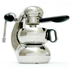 The most beautiful espresso machine ever made. The classic 1947 design by Giordano Robbiati of Milan. Ours had no milk frother and made great coffee for decades. Aftre the patent expiry, the design was reproduced in stainless in Asutralia  www.listen4life.com