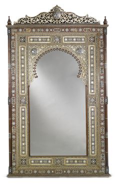 Moroccan Furniture, Antique Furniture, Diy Furniture, Moroccan Mirror, Islamic Decor, Epoxy Resin Art, Arabesque, Tortoise Shell, Wood Design