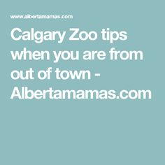 Calgary Zoo tips when you are from out of town - Albertamamas.com