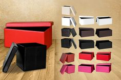 Ottoman Storage Cube or Bench Large Storage Bench, Ottoman Storage, Cube Storage, Things To Buy, Stuff To Buy, Shopping Deals, Colours, Store, Beauty Products