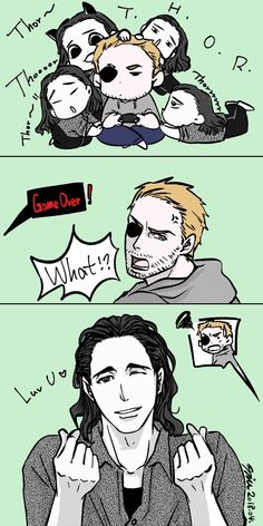 Attention || Thor & Loki || Cr: Miss undine