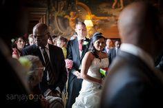 Bride walking into Moor Park