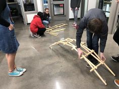 Need a good brain-teaser for your group?  The Bridge is a the perfect activity for small groups of 4-5 people.  This activity was created by our good friend Guido Cremonisi from Italy.  The Task is for teams to create a free-standing bridging using the custom-knotched dowels. People For People, Best Brain Teasers, Bridge Builder, Dealing With Grief, Team Building Activities, Group Work, Teamwork, Small Groups, Get One