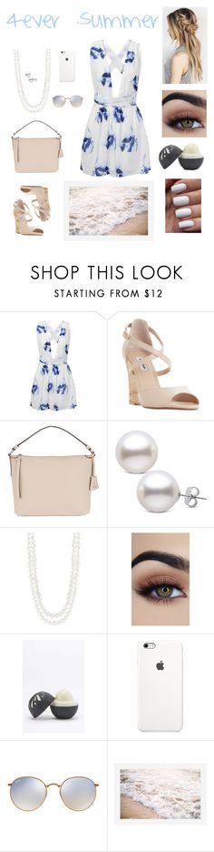 """""""Who Said Summer Ended?"""" by beauty55 ❤ liked on Polyvore featuring Dune, Ultimate, Abro, Masako, Eos, Ray-Ban and Pottery Barn"""