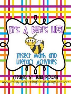 This is a pack full of activities to use during your insect unit. Activities include:-Bubble maps for ladybugs, dragonflies, bees, beetles and bu...
