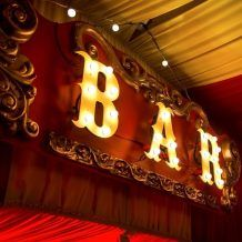 Circus Bar Sign - Hire and Style Circus Party Decorations, Carnival Themed Party, Carnival Themes, Circus Theme, Party Themes, Event Lighting, Neon Lighting, Bar Signs, Event Styling