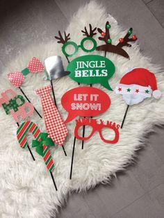12 x Photo Weihnachten Party Time Props Maske Foto Feier Geburtstag Requisiten  | eBay