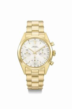 Rolex. A very fine and rare 18K gold chronograph wristwatch with bracelet, circa 1966 #ChristiesWatches
