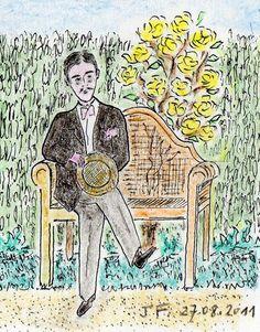 Marcel Proust, Swann's Way, Writer, Book Reviews, Books, Portraits, Illustrations, Literatura, Miniatures