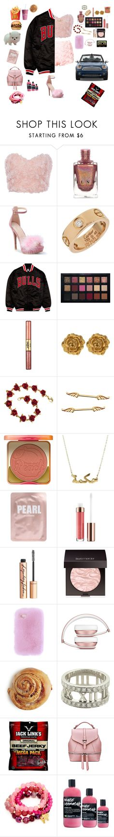 """""""Untitled #397"""" by liazpanda ❤ liked on Polyvore featuring Cartier, Starter, Huda Beauty, tarte, Liberty, Too Faced Cosmetics, Lapcos, Charlotte Tilbury, Laura Mercier and INDIE HAIR"""