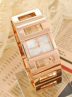 Modern Metal Alloy Square Fashion Watch at $43.19  http://www.bboescape.com/products/buy/422/watches/Modern-Metal-Alloy-Square-Fashion-Watch