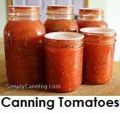 canning tomatoes and other vegetables