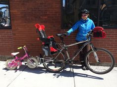 Follow Me - uses the regular bike and allows the use of cargo storage on the main bike behind the seat.