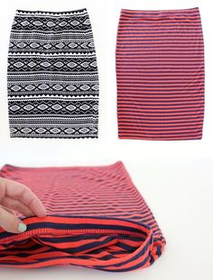 How to sew a knit Pencil Skirt, in 20 minutes!   MADE