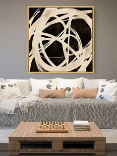 Contemporary Wall Art - Abstract Painting on Canvas, Original Oversize Painting, Extra Large Wall Art Large Artwork, Extra Large Wall Art, Large Painting, Abstract Canvas Art, Abstract Paintings, Canvas Wall Art, Black White Art, Contemporary Wall Art, Original Art