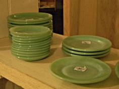 Cathouse Antiques - Jadite saucers