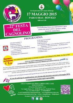17/5 22a Festa del #Cagnolino organizzata dalla #LegadelCane di #Rovigo