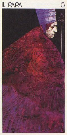 'The Pope' (The Hierophant Tarot) , made by: Sergio Toppi Walton Ford, Carl Jung, Tarot Cards Major Arcana, Le Tarot, The Hierophant, Online Tarot, High Priest, Tarot Decks, Comic Artist